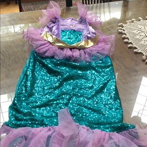 Little Mermaid Style Costume Size 10-12